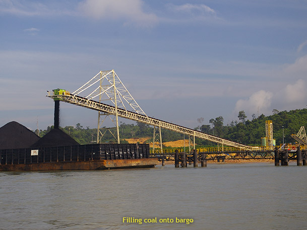 Filling Coal Onto Barge